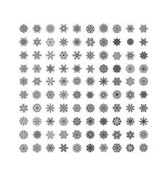 black snowflakes icon on white background vector image