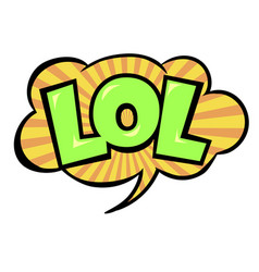 Bright lol speech bubble vector