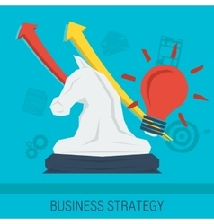 Business concept STRATEGY vector