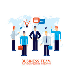 businessman partnership teamwork collaboration vector image