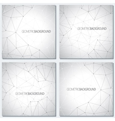 Collection geometric gray background molecule and vector image