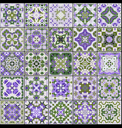 Collection of ceramic tiles vector