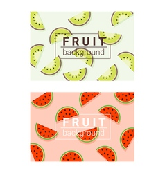 Colorful background with fruits 2 vector image
