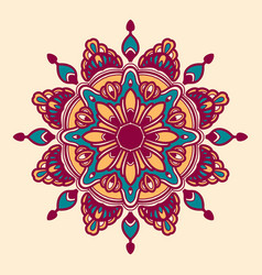 colorful mandala flower vector image