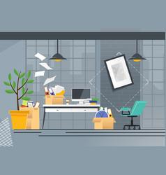 Company office move and transportation cartoon vector