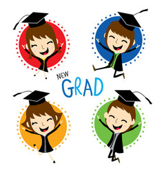 congratulation new graduate cute cartoon vector image