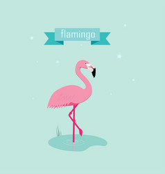 cute pink flamingos vector image