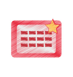 Drawing calendar april fools day vector