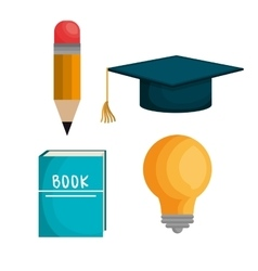 education set line icons vector image
