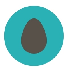 Egg flat grey and cyan colors round button vector