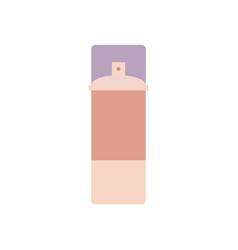 flat aerosol can vector image
