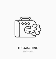 fog smoke machine flat line icon special effects vector image