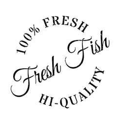 Fresh fish stamp vector image
