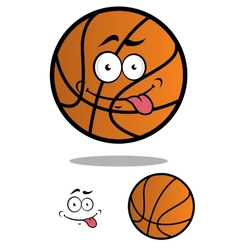 Funny cartooned basketball ball vector image