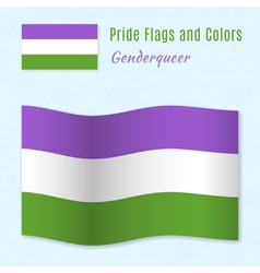 Genderqueer pride flag with correct color scheme vector