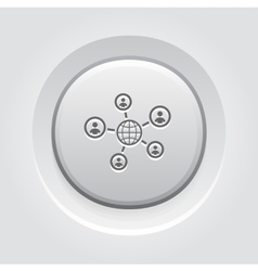 Global Contacts Icon vector