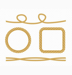 gold silk cords round and square frames satin vector image