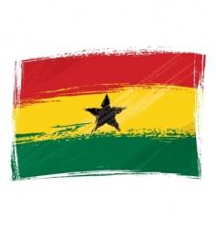 grunge ghana flag vector image