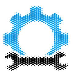 halftone dot service tools icon vector image