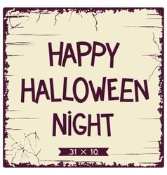 Halloween postcard design vector image