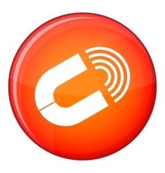 Horseshoe magnet icon flat style vector