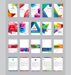 Huge set visual identity with letter logo vector