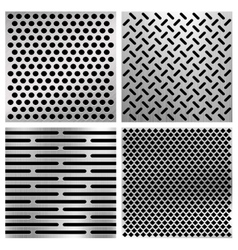 Industrial metal perforated textures vector image