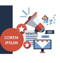 infographic flat design concept of news vector image