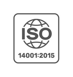 iso 14001 2015 certified symbol iso 14001 2015 vector image