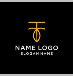 Letter r leaf logo vector