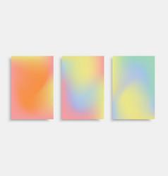mesh-pastel-brochure vector image