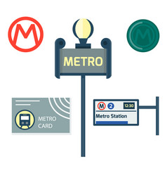 Metro station transportation modern railroad trip vector