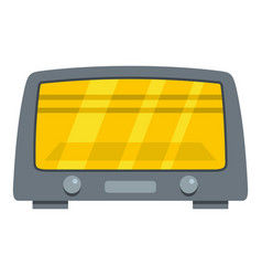microwave oven icon cartoon style vector image