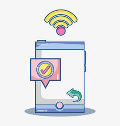 mobile app digital social communication vector image