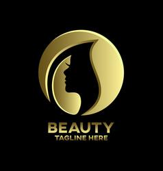Modern beauty and beautiful woman logo vector