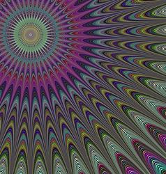 Multicolor sun fractal design background vector
