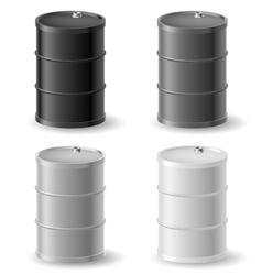 Oil barrels icon set vector