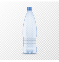 plastic water bottle realistic container for vector image