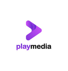 play media logo design inspiration vector image