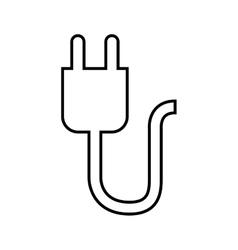 Power connector lineal design vector