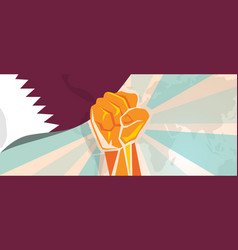 qatar propaganda poster fight and protest vector image