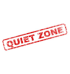 Scratched quiet zone rounded rectangle stamp vector