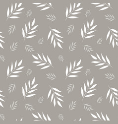 Seamless abstract floral pattern gray and white vector