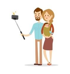 Selfie family portreit vector