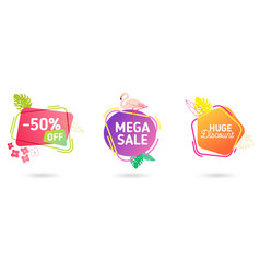 set summer sale banner template liquid vector image