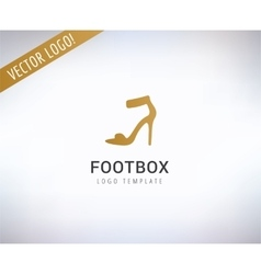 Shoe logo Fashion shopping and sale vector