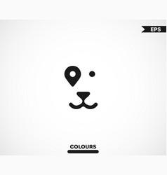 smiling dog gps logo vector image