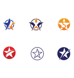 Star logo icon design vector