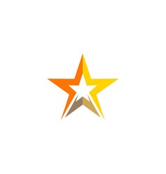 star shine abstract geometry logo vector image