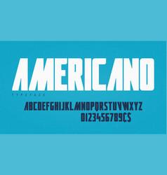 stylish condensed headline typeface alphabet vector image
